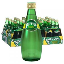 perrier glass bottle water