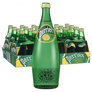 Perrier Lemon Glass bottle
