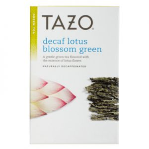 tazo decaf lotus blossom green tea