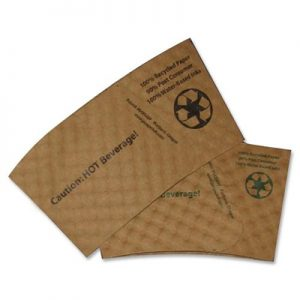 Eco coffee sleeves