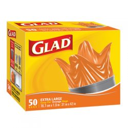 Glad Easy-Tie® Extra Large Orange Bags