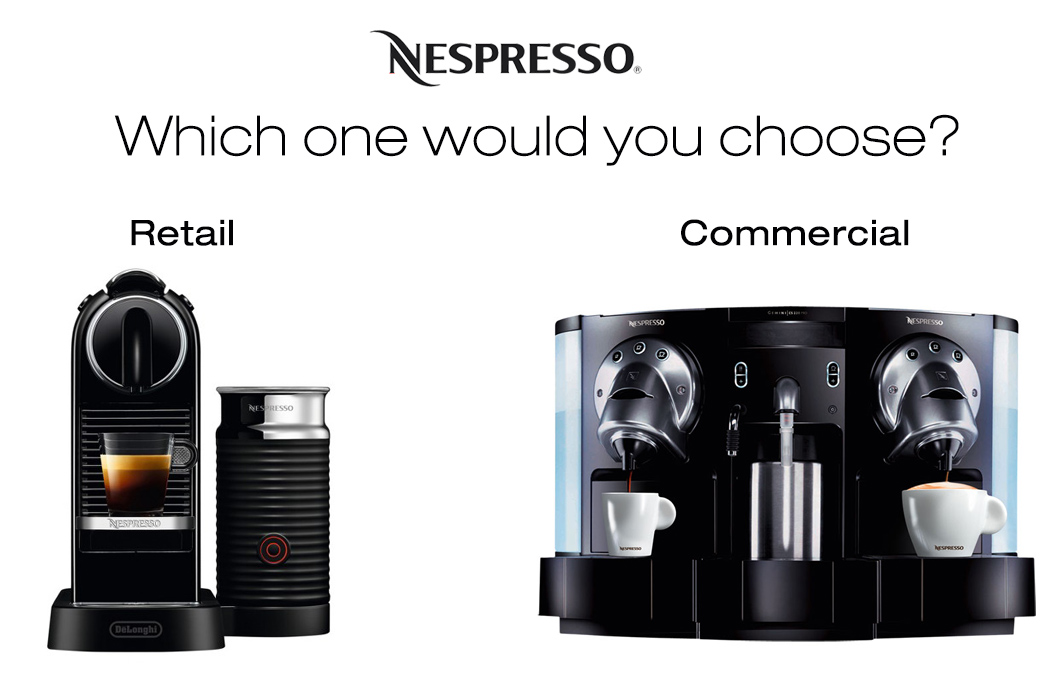 Nespresso Commercial Machines Calgary