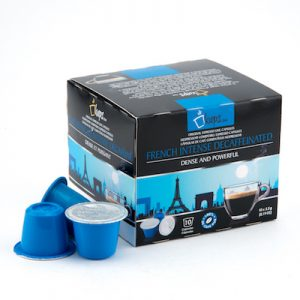 nespresso compatible capsules French Intense Decaf